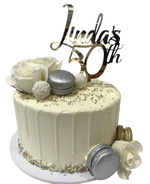 Cake Creations by Kate™ SpecialityCakes White Silver and Gold Floral Buttercream Speciality Cake