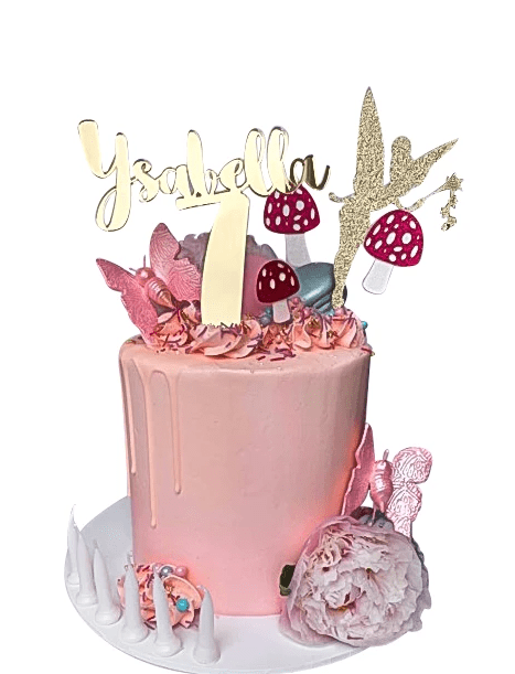 Cake Creations by Kate™ SpecialityCakes Woodland Fairy Pink Buttercream Extended Height Speciality Cake