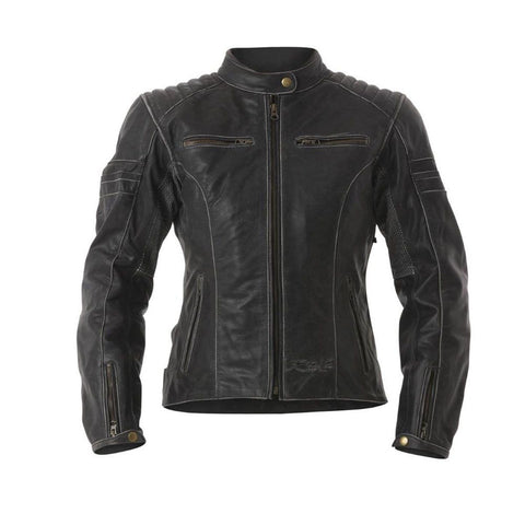 RST Roadster Ladies Leather Motorcycle Jacket Black