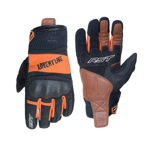 RST Adventure CE Motorcycle Gloves Orange / Black