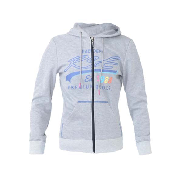 RST Ladies Full Zip Hoodie Grey Marl