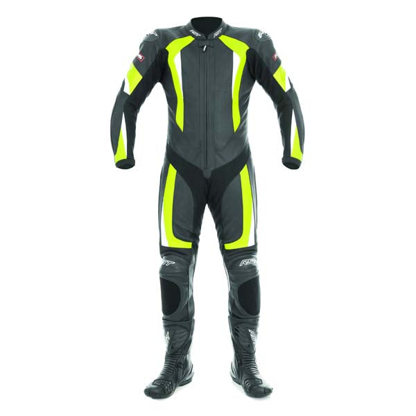 RST R-16 Leather One Piece Suit Fluo Yellow