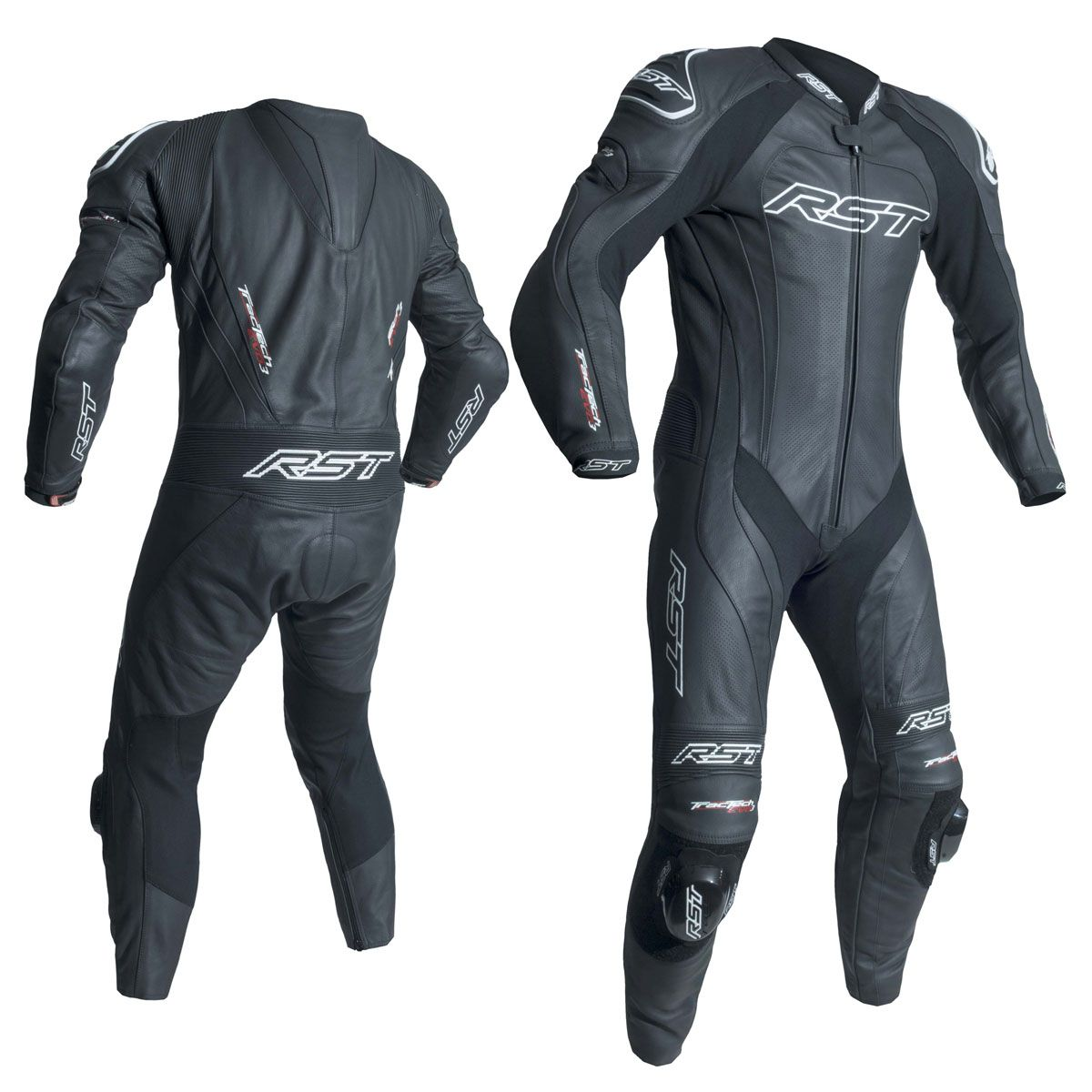 RST Tractech Evo 3 CE One Piece Leather Suit Black / Black