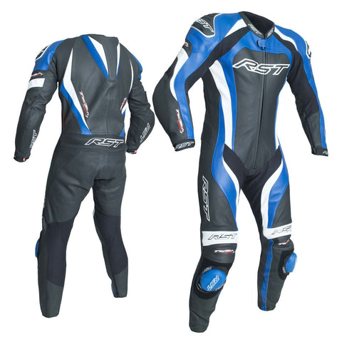 RST Tractech Evo 3 CE One Piece Leather Suit Black / Blue