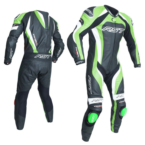 RST Tractech Evo 3 CE One Piece Leather Suit Black / Green