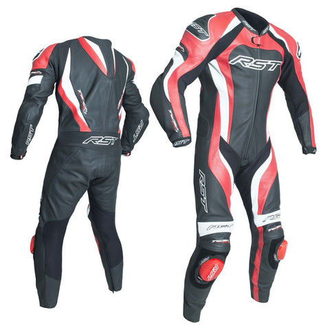 RST Tractech Evo 3 CE One Piece Leather Suit Black / Red