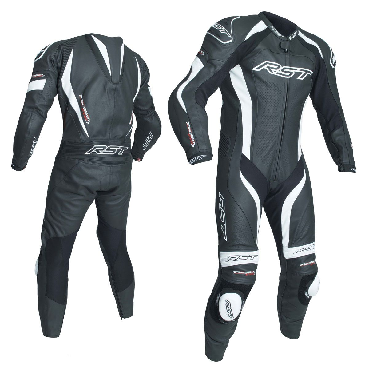 RST Tractech Evo 3 CE One Piece Leather Suit Black / White
