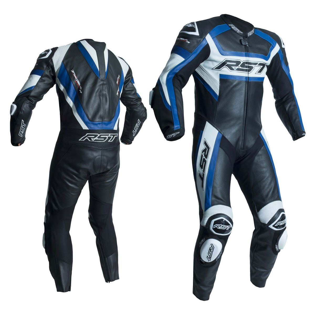 RST Tractech Evo R CE One Piece Leather Suit Black / Blue