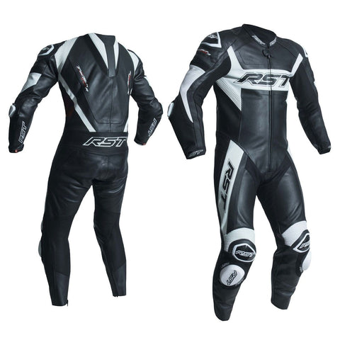 RST Tractech Evo R CE One Piece Leather Suit Black / White