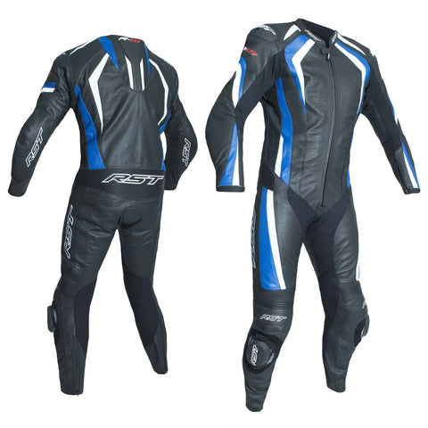 RST R-18 CE One Piece Leather Suit Black / Blue