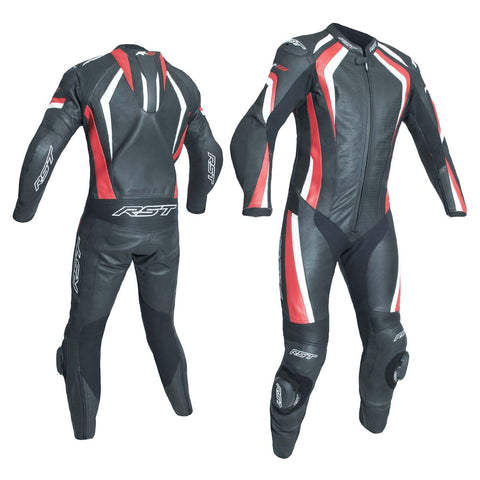 RST R-18 CE One Piece Leather Suit Black / Red