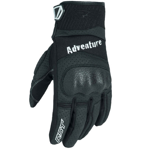 RST Adventure CE Leather Gloves Black