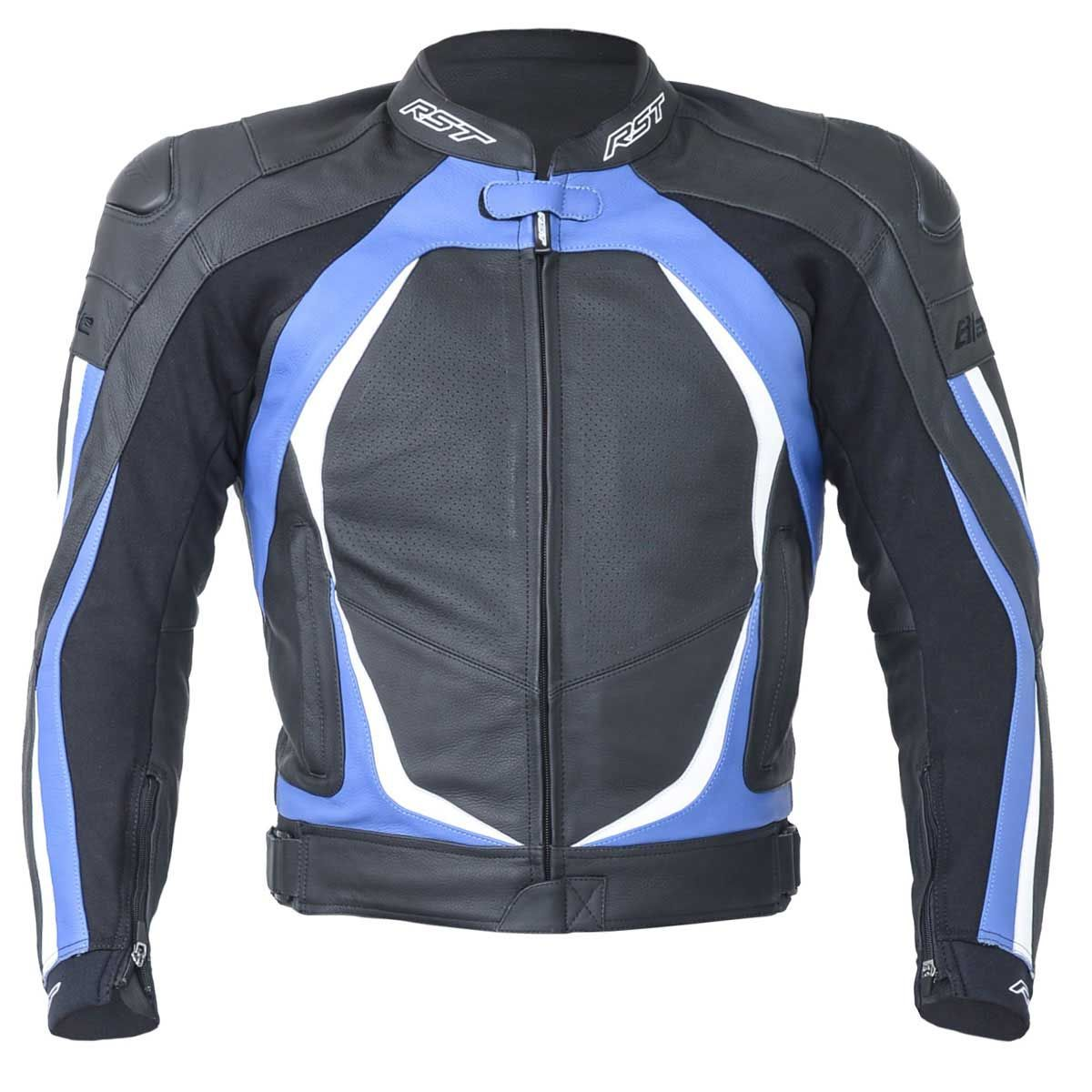 RST Blade II Leather Motorcycle Jacket Blue
