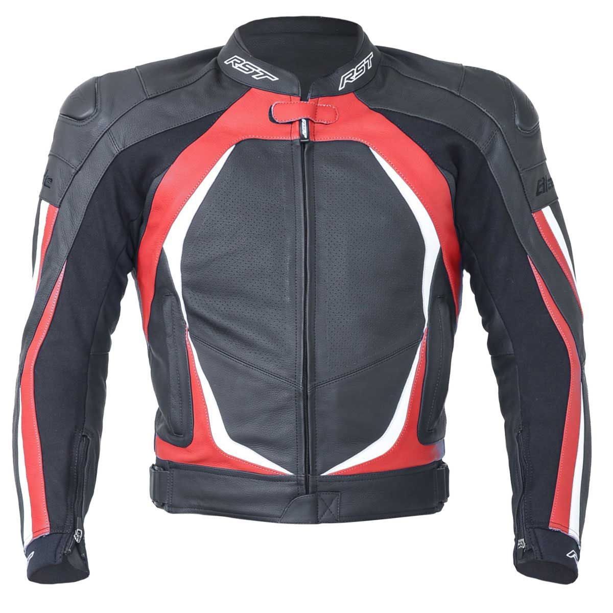 RST Blade II Leather Motorcycle Jacket Red