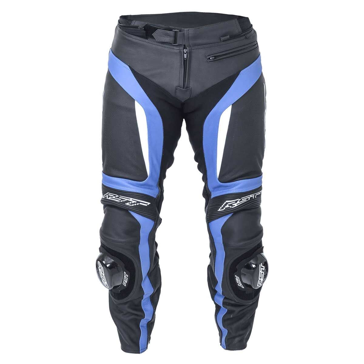 RST Blade II Leather Motorcycle Trousers Blue