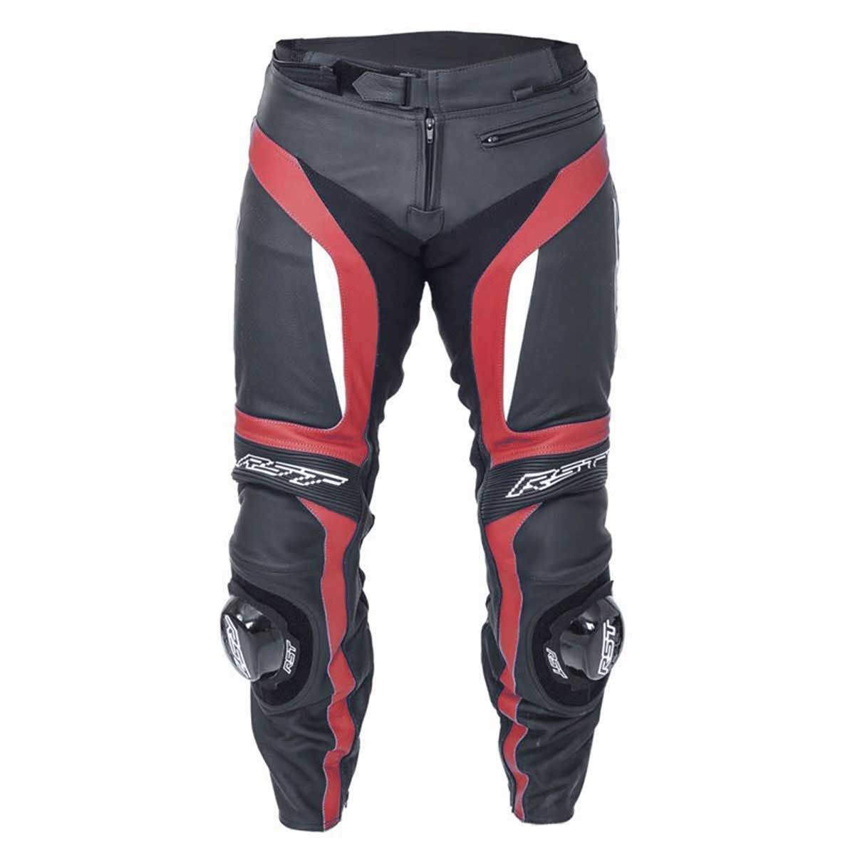 RST Blade II Leather Motorcycle Trousers Red