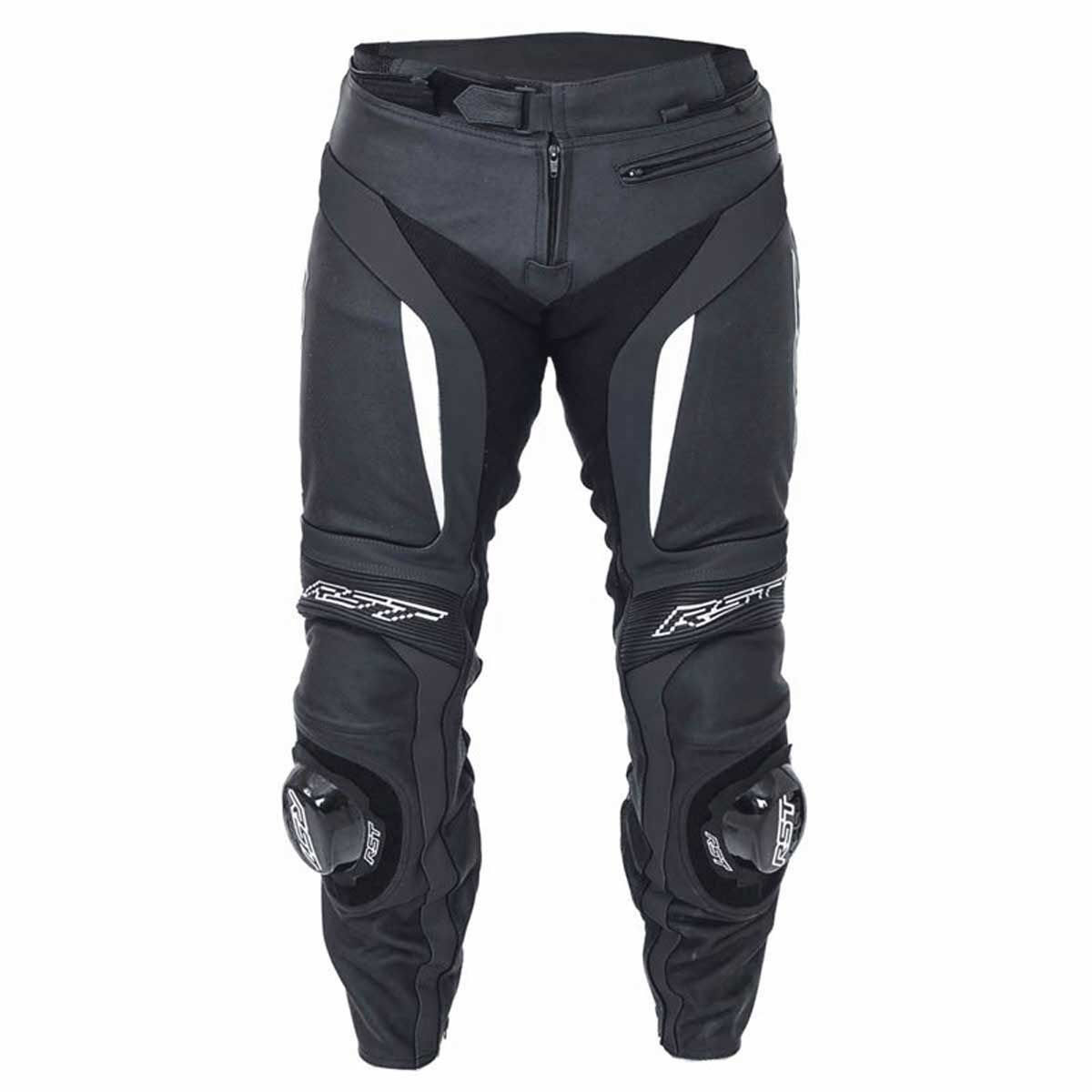 RST Blade II Leather Motorcycle Trousers White