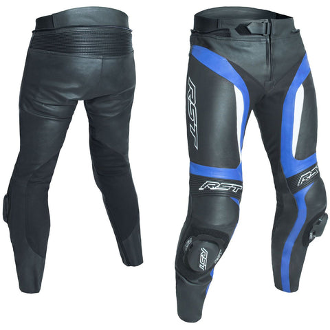 RST Blade II CE Leather Trousers Blue