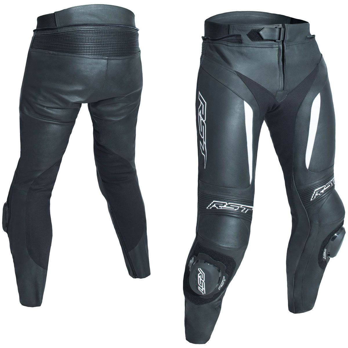 RST Blade II CE Leather Trousers White