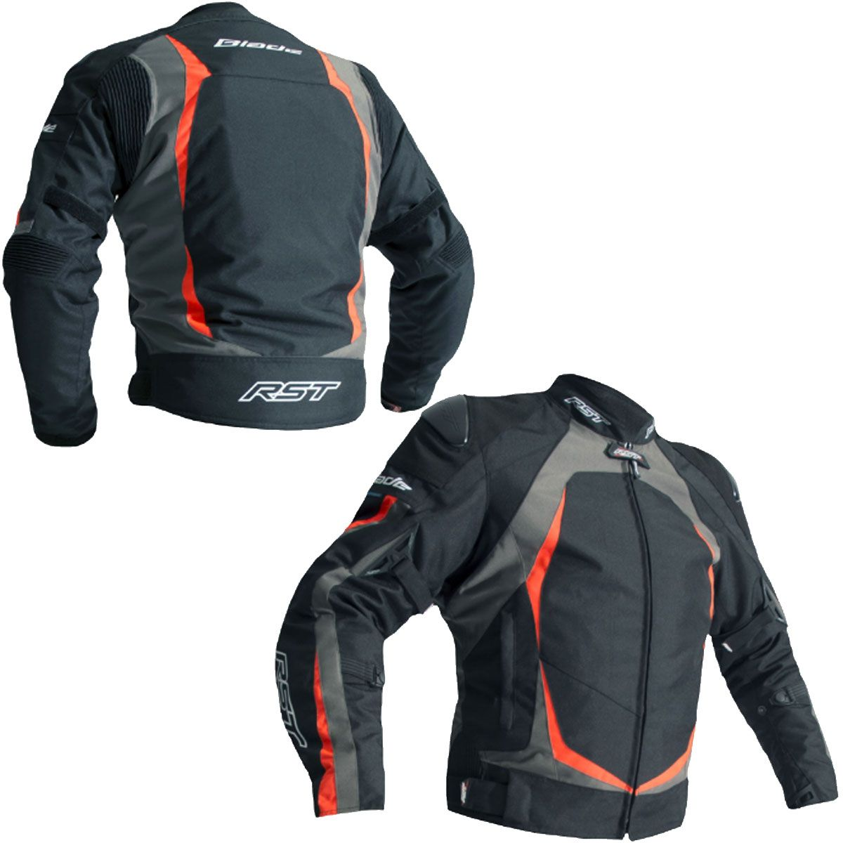 RST Blade Sport II CE Textile Jacket Grey / Fluo Red