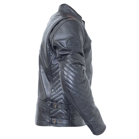 RST Classic TT Retro II Leather Motorcycle Jacket Black