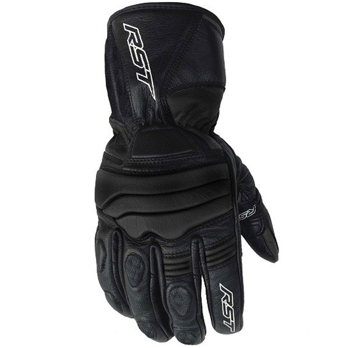 RST Jet CE Leather Gloves Black