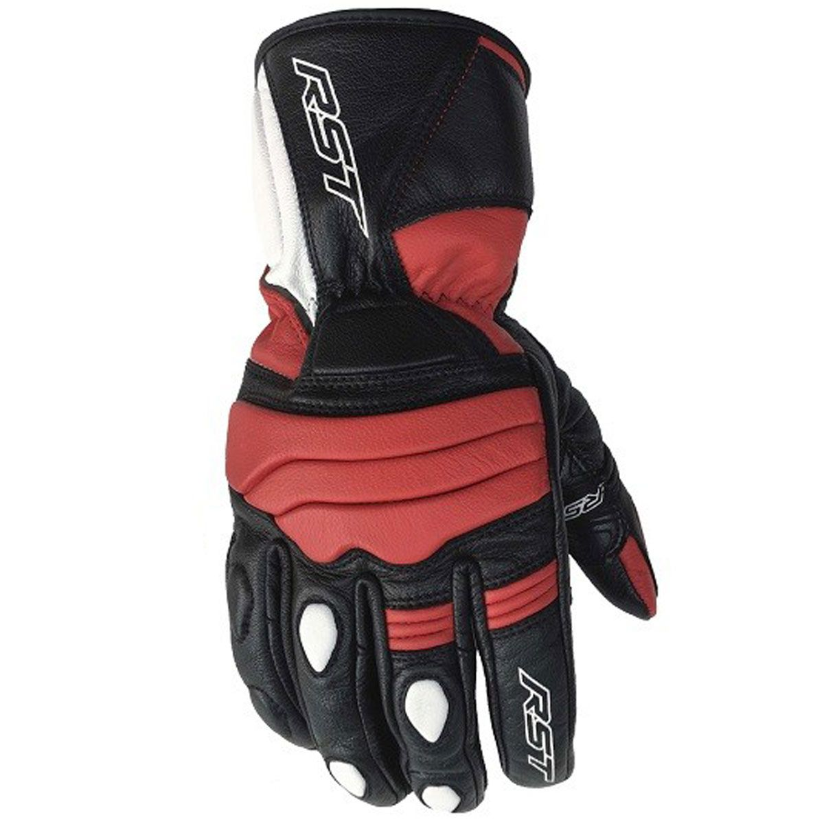 RST Jet CE Leather Gloves Red