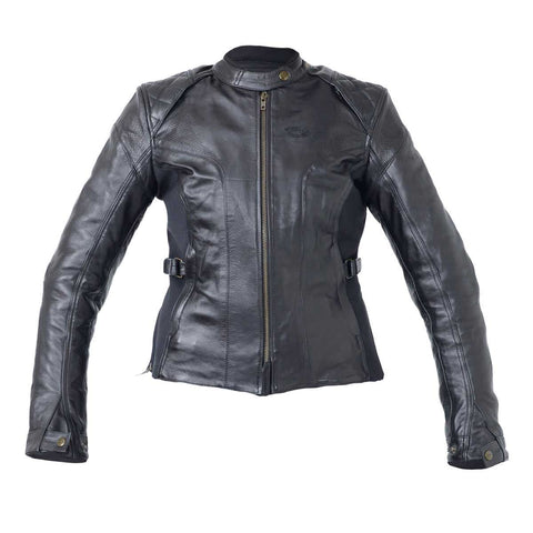 RST Kate Ladies Leather Motorcycle Jacket Black