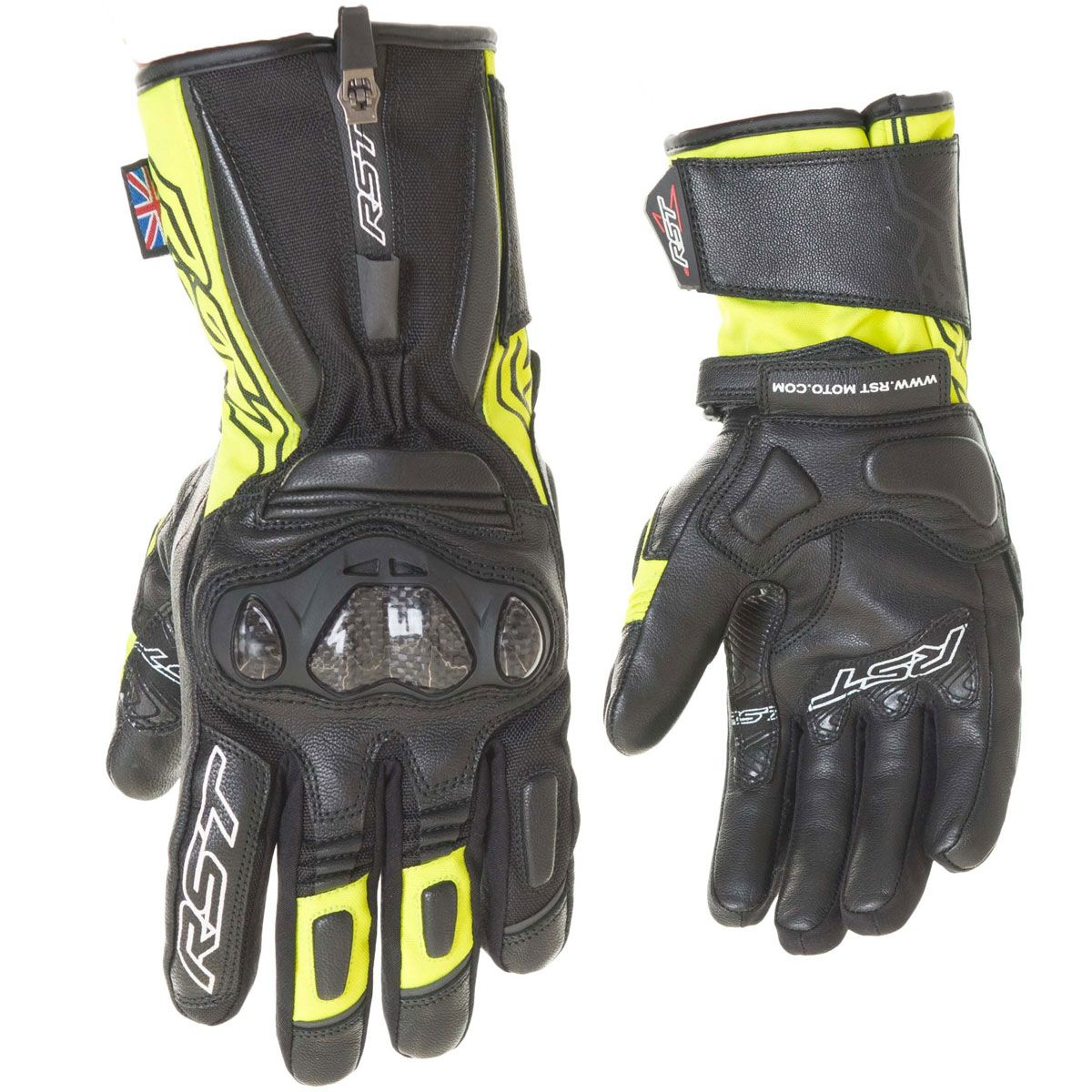 RST Paragon V CE WP Gloves Fluo Yellow