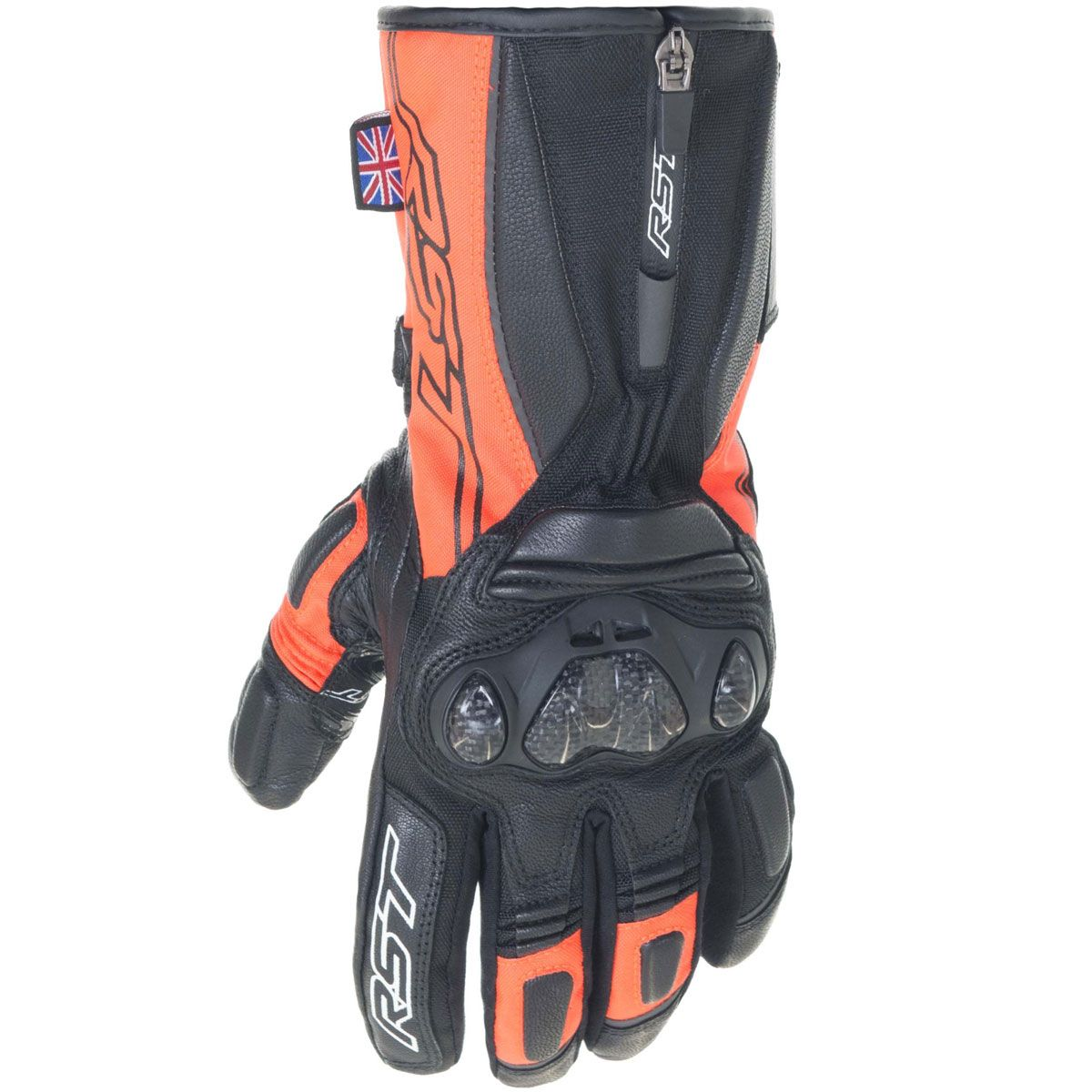 RST Paragon V CE Ladies WP Gloves Fluo Red