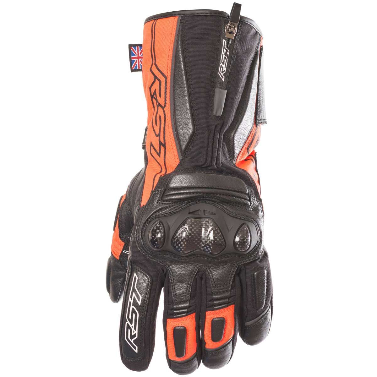 RST Paragon V WP Motorcycle Gloves Fluo Red