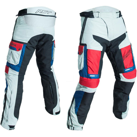 RST Pro Series Adventure III CE Textile Trousers Ice / Blue / Red