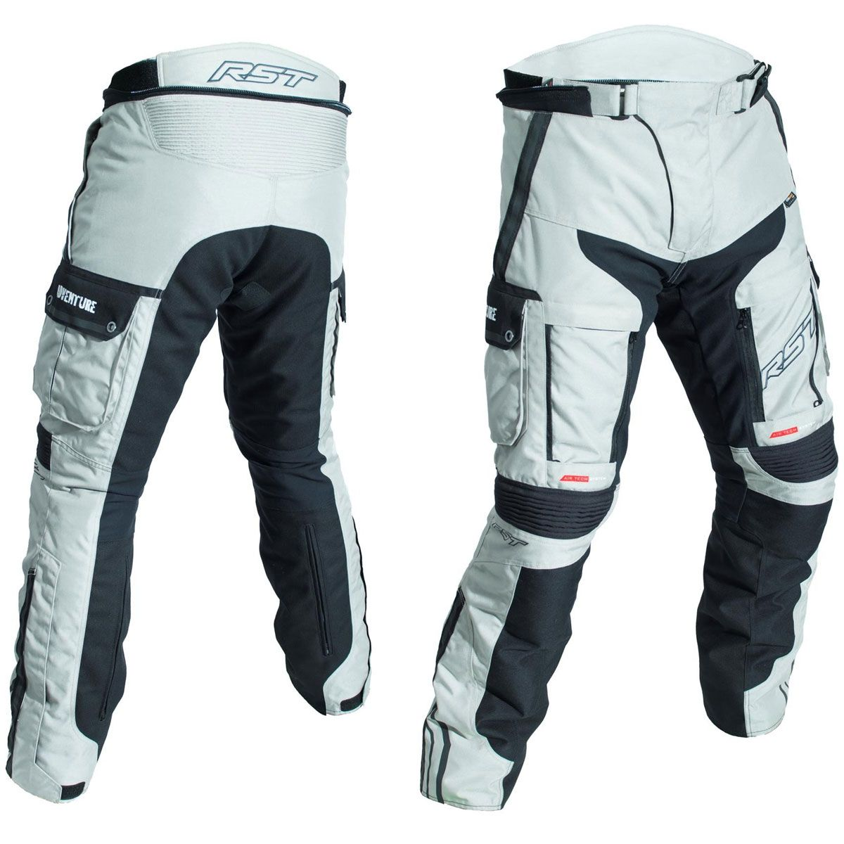 RST Pro Series Adventure III CE Textile Trousers Silver / Black