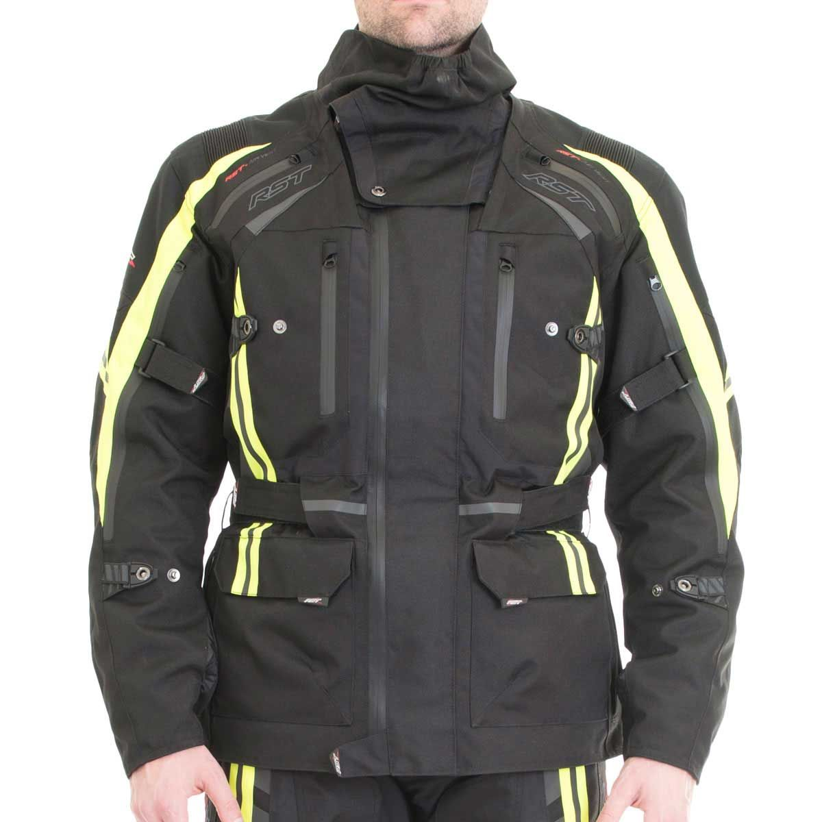RST Pro Series Paragon V Textile Motorcycle Jacket Fluo Yellow