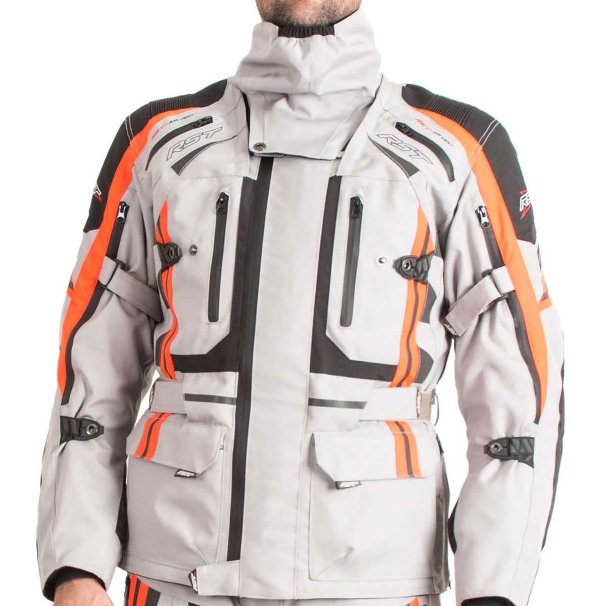 RST Pro Series Paragon V Textile Motorcycle Jacket Silver