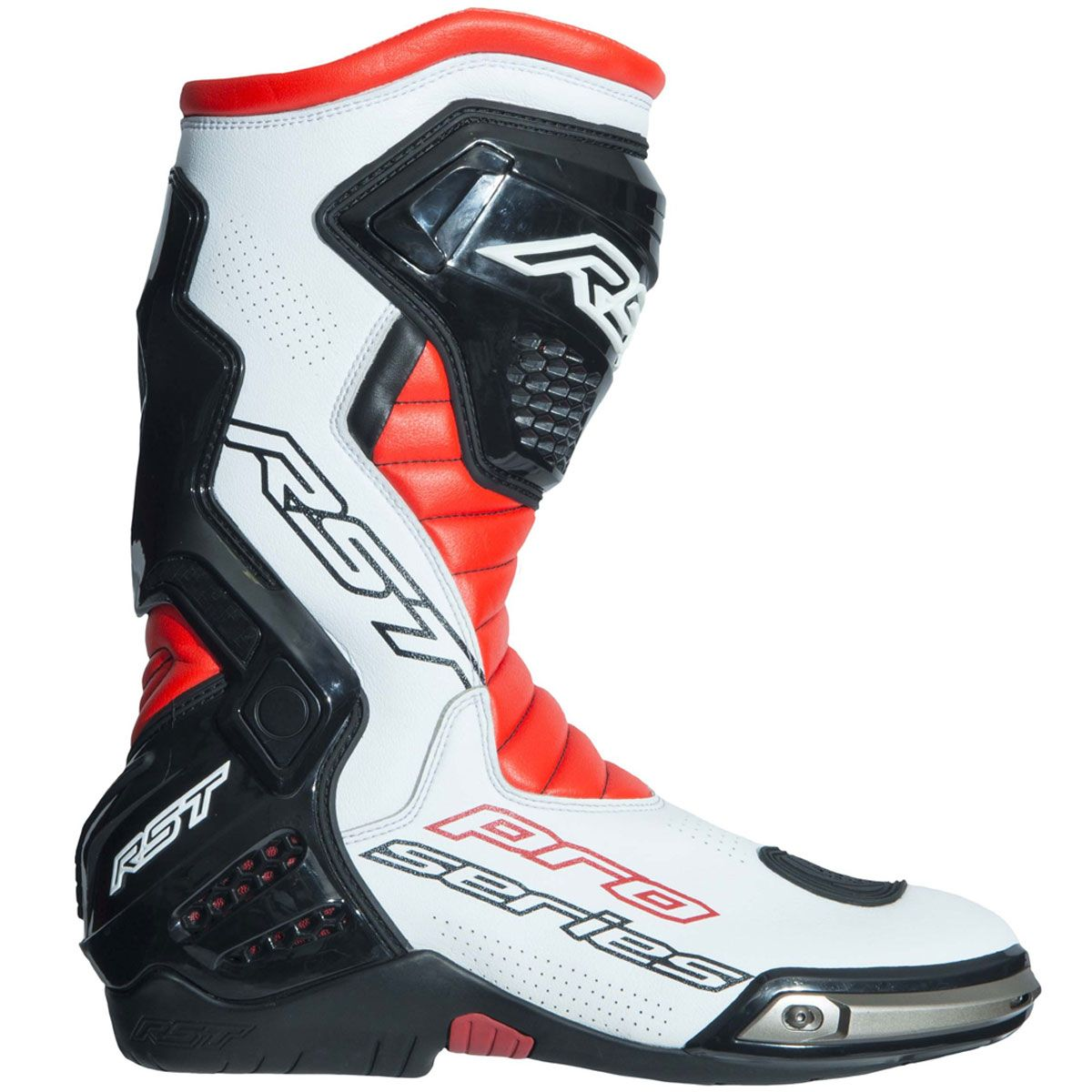 RST Pro Series Race CE Boots Fluo Red / White