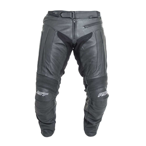 RST R-16 Leather Motorcycle Trousers Black