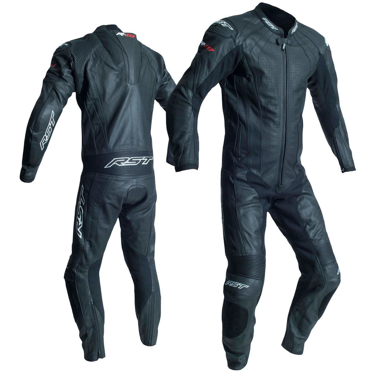 RST R-18 CE One Piece Leather Suit Black
