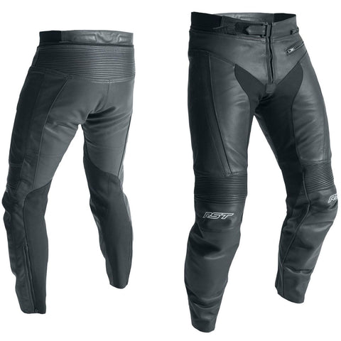 RST R-18 CE Leather Trousers Black (Short Leg)