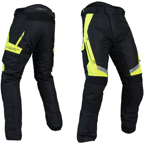 RST Rallye CE Textile Trousers Black / Flo Yellow