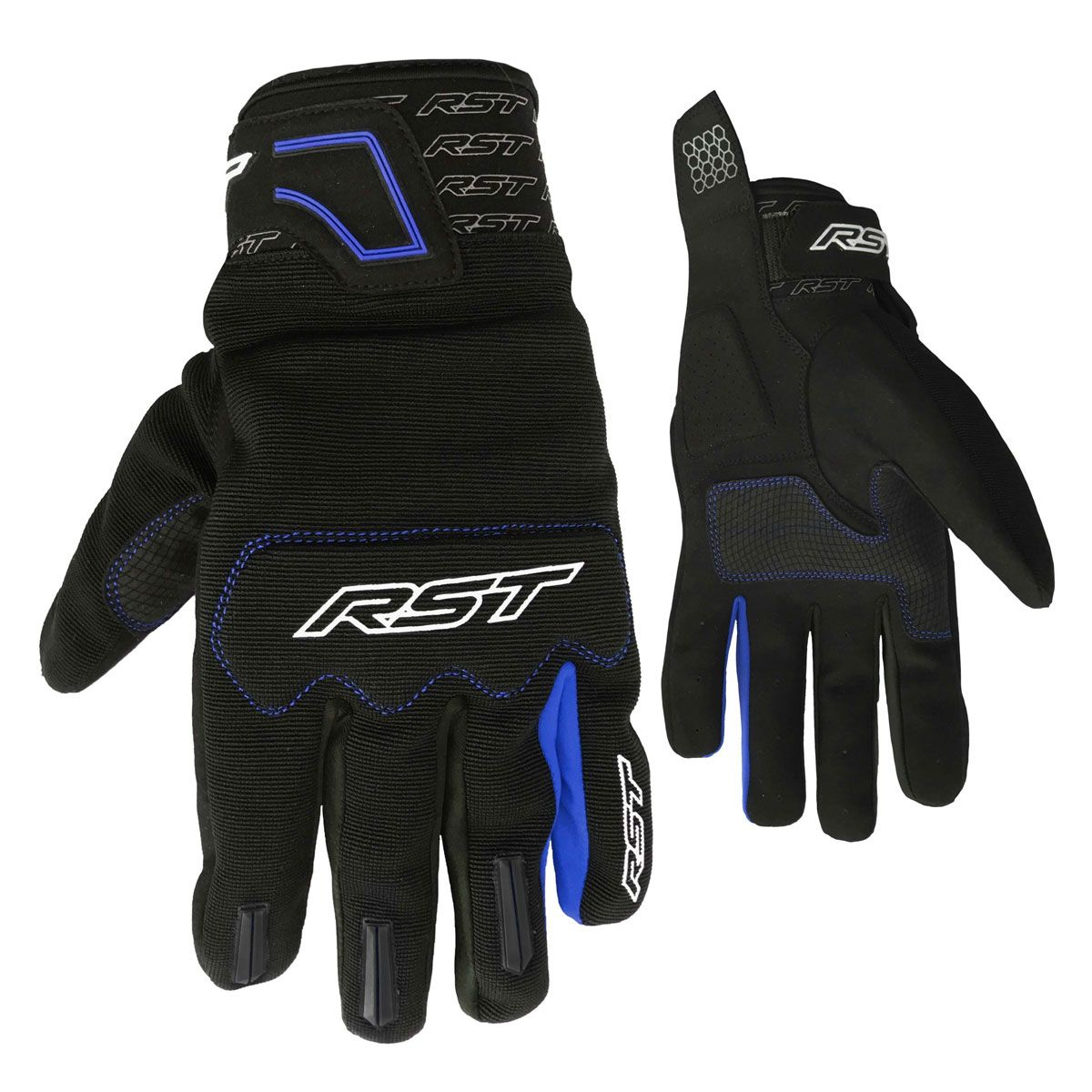 RST Rider CE Textile Gloves Blue / Black