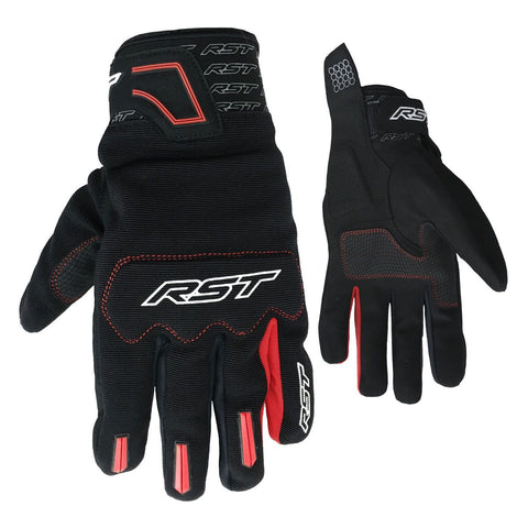 RST Rider CE Textile Gloves Red / Black