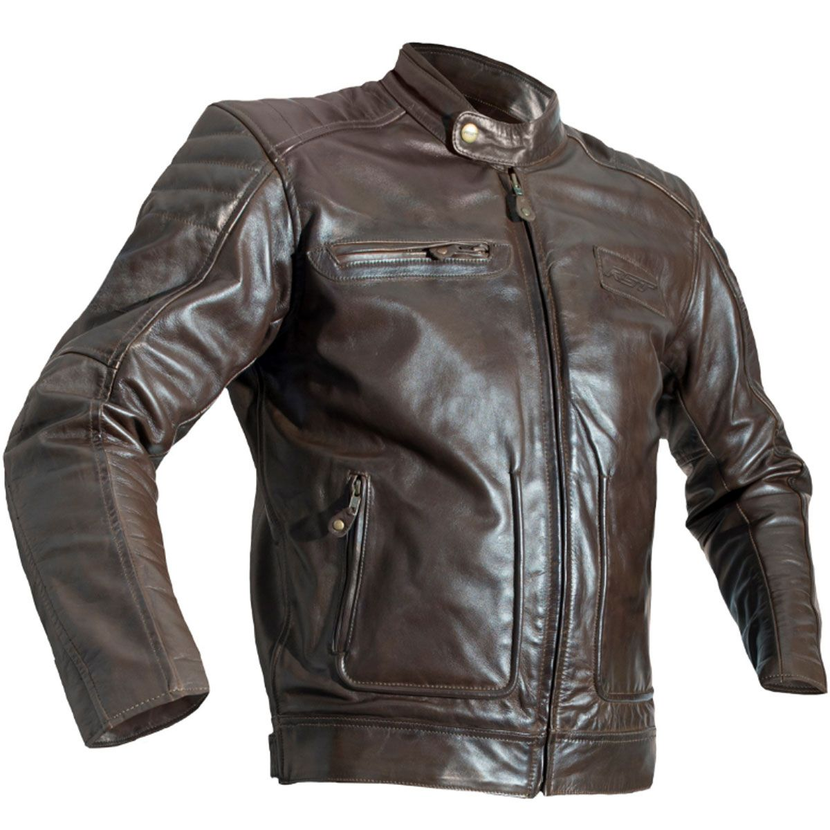 RST Roadster II CE Leather Jacket Tobacco Brown