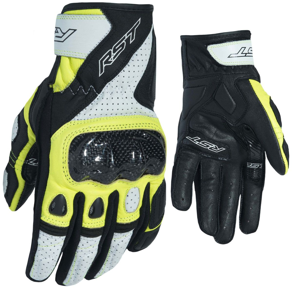 RST Stunt III CE Gloves Fluo Yellow
