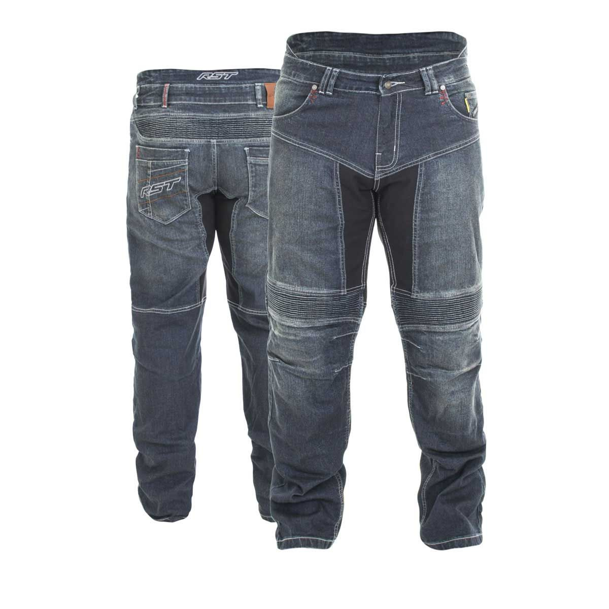 RST Technical Aramid Textile Motorcycle Jeans Dark Wash Blue
