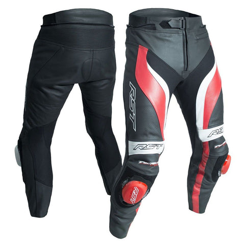 RST Tractech Evo 3 CE Leather Trousers Red