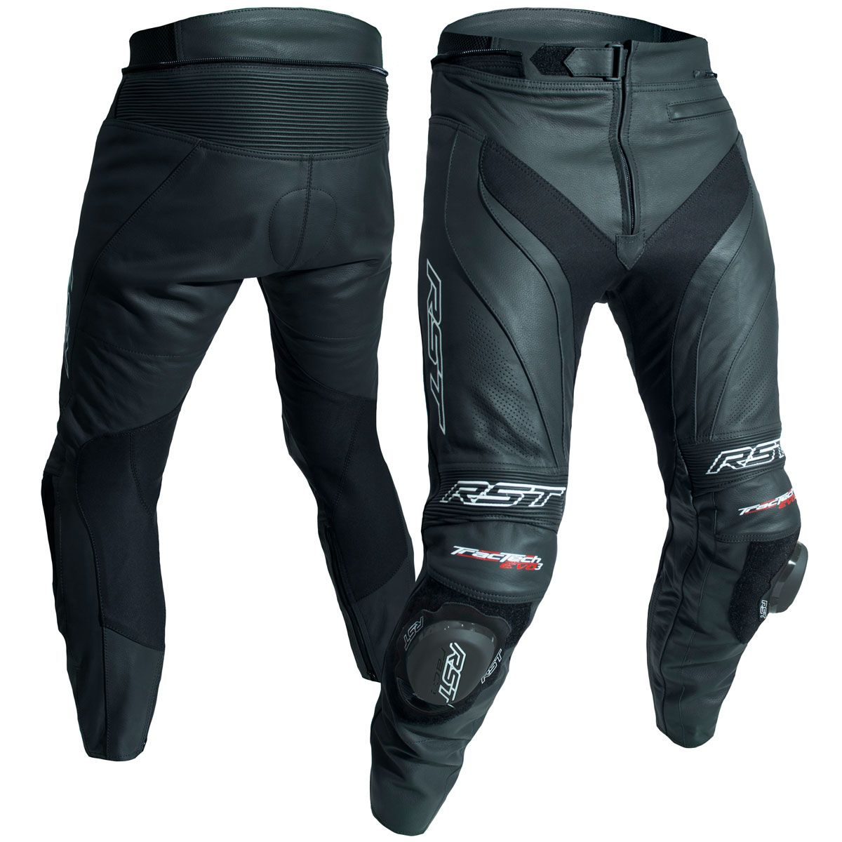 RST Tractech Evo 3 CE Leather Trousers Black