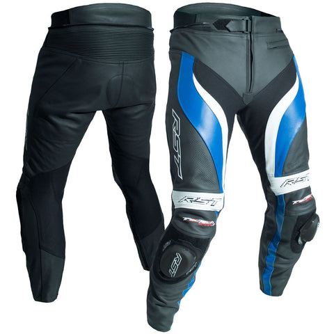 RST Tractech Evo 3 CE Leather Trousers Blue