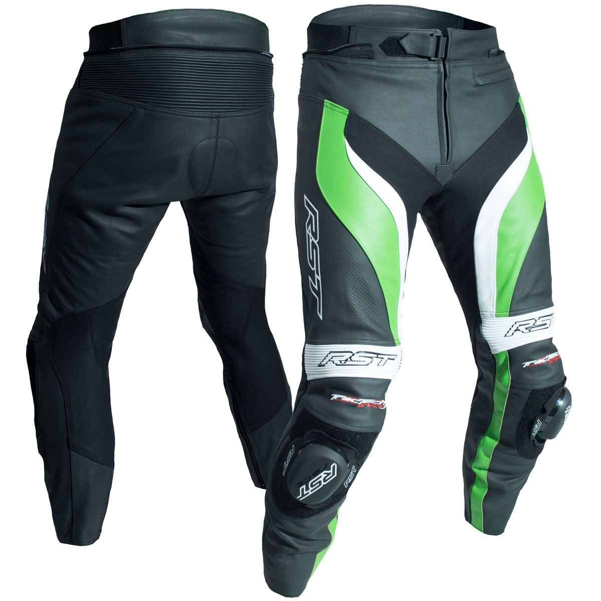 RST Tractech Evo 3 CE Leather Trousers Green
