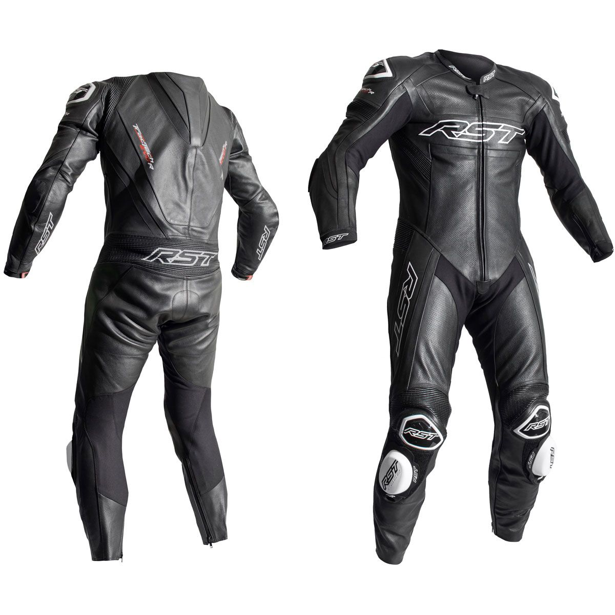 RST Tractech Evo R CE One Piece Leather Suit Black / Black